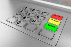 Closeup of an ATM machine Stock Photography