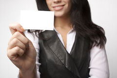 Closeup of attractive bussineswoman Stock Image