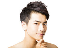 Closeup attractive young man face Royalty Free Stock Images