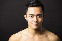 Closeup  attractive young man face Royalty Free Stock Photography