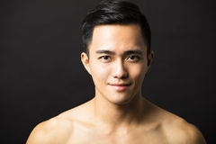 Closeup  attractive young man face Stock Image
