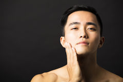 Closeup  attractive young man face Stock Image