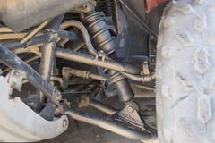 Closeup of ATV chassis suspension Stock Image