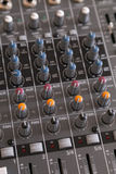Audio mixer knobs Royalty Free Stock Images