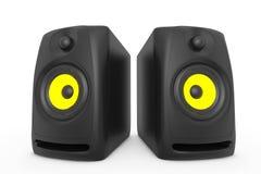 Closeup Audio Speakers. 3d rendering Stock Photo
