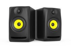 Closeup Audio Speakers. 3d rendering Stock Images