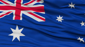 Closeup Australia Flag. Waving in the Wind, High Resolution royalty free illustration