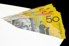 Closeup of Australian currency Stock Photo