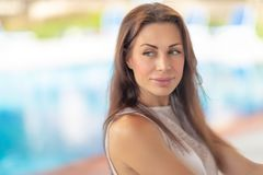 Authentic woman portrait royalty free stock image
