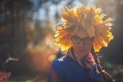 Closeup autumn portrait Stock Photos