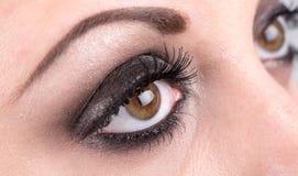 Closeup av ögonmakeup royaltyfria foton