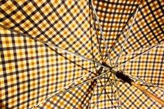 Closeup av öppet Retro mönstrat paraply 1 Royaltyfria Foton