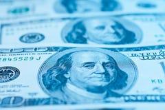Closeup av $100 sedlar Royaltyfria Foton