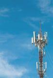 Closeup av antennen med den blåa himlen arkivbilder
