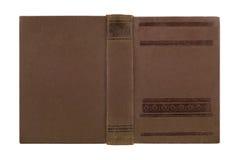 Closeup av antikt läderbokomslag arkivbilder