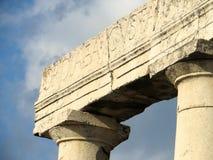 Closeup av arkitektur i Pompeii Royaltyfria Bilder