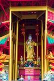 closeup av asiatisk religiös kult på gatan arkivfoton