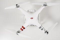 Closeup av avancerad surrquadrocopterDji fantom 3 Arkivbilder