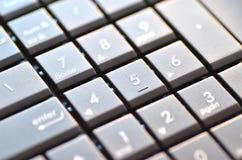 Closeup av bärbar datortangentbordet Arkivfoto