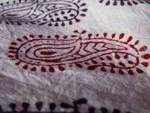 Closeup av bedsheeten med berömt Bagh tryckarbete arkivfoton