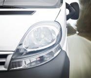 Closeup av bilbillyktan royaltyfria foton
