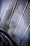 Closeup av billyktan av bilen. Arkivbilder