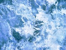 Closeup av blå istextur Royaltyfria Foton