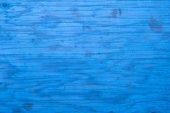 Closeup av blå wood bakgrund royaltyfri fotografi