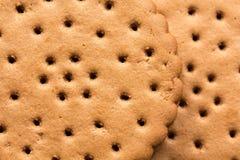 Closeup av chokladkakor Arkivbild