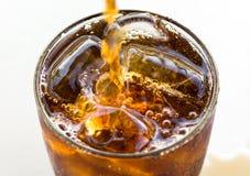 Closeup av cola Arkivbild