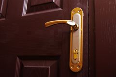 Closeup av dörren arkivfoto
