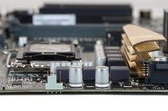 Closeup av datormoderkortet arkivfoto