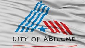 Closeup av den Abilene stadsflaggan stock illustrationer