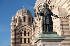 Closeup av den Cathedrale De laen Major In Marseille, Frankrike royaltyfri bild