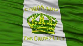 Closeup av den Coronado stadsflaggan Arkivfoto