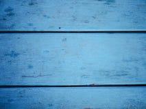 Closeup av den gamla blåa träväggen Royaltyfri Foto