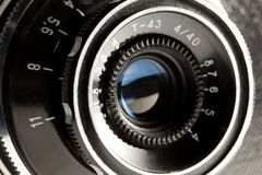 Closeup av den gamla retro kameran Arkivbilder