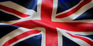 Closeup av den grungeUnion Jack flaggan Royaltyfria Foton
