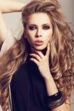 Långt Wavy hår Royaltyfri Foto