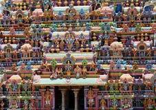CLOSEUP AV DEN HINDUISKA SRIRANGAM-TEMPLET Royaltyfri Foto