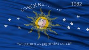 Closeup av den Key West stadsflaggan Arkivfoto
