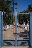 Closeup av den koloniinvånareMalanje kyrkogården, Malanje royaltyfria foton
