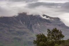 Closeup av den massiva bergväggen, Annat Skottland Arkivbilder