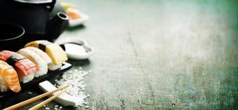 Closeup av den nya sushi Royaltyfri Foto