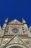 Closeup av den Orvieto domkyrkan, Umbria, Italien royaltyfri foto