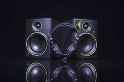 Closeup av den soundbar högtalaren Arkivbilder