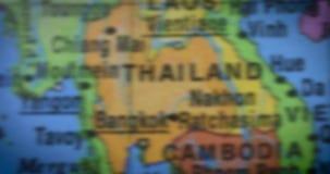 Closeup av den Thailand landsöversikten stock video