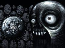 Closeup av en amulett Arkivbild