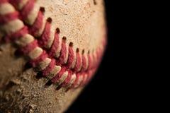 Closeup av en baseball Royaltyfri Bild