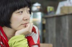 Closeup av en flicka Arkivfoto